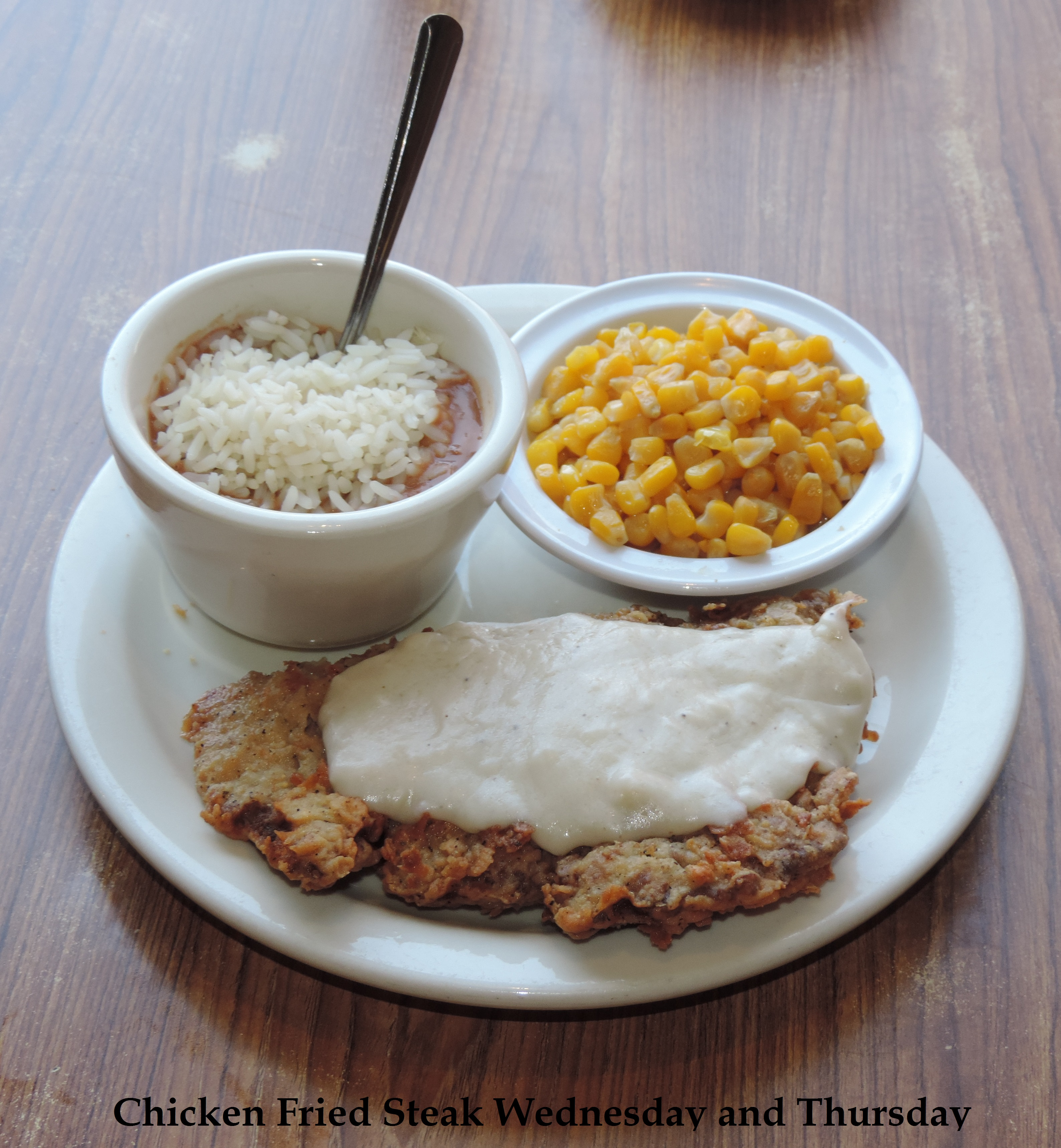 Chicken Fried Steak Lunch SpecialWednesday and Thursday